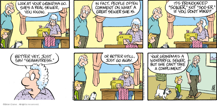 Comic Strip Brian Crane  Pickles 2019-05-12 people