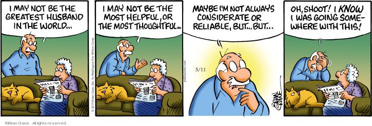 Comic Strip Brian Crane  Pickles 2019-05-11 husband