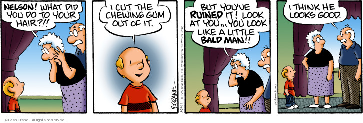 Comic Strip Brian Crane  Pickles 2019-05-29 hair