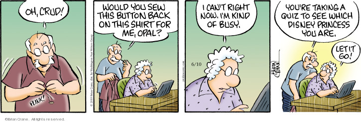 Comic Strip Brian Crane  Pickles 2019-06-10 shirt
