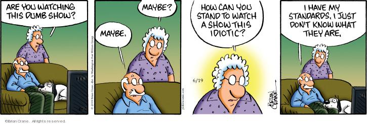 Comic Strip Brian Crane  Pickles 2019-06-19 television