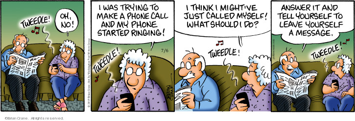 Comic Strip Brian Crane  Pickles 2019-07-06 cell phone