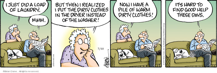 Comic Strip Brian Crane  Pickles 2019-07-10 housecleaning