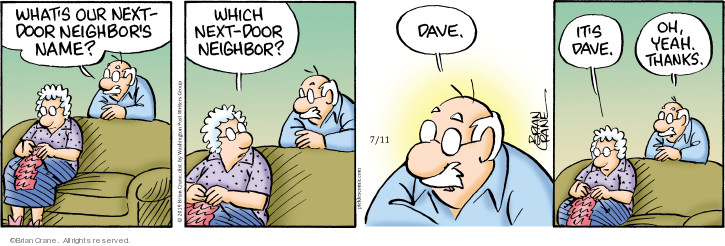 Comic Strip Brian Crane  Pickles 2019-07-11 remember