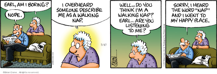 Comic Strip Brian Crane  Pickles 2019-07-17 walk