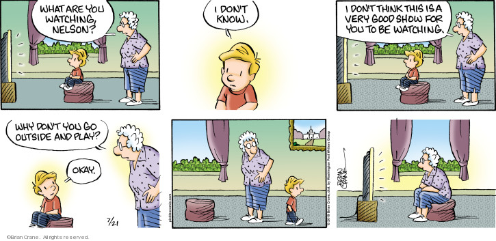 Comic Strip Brian Crane  Pickles 2019-07-21 television