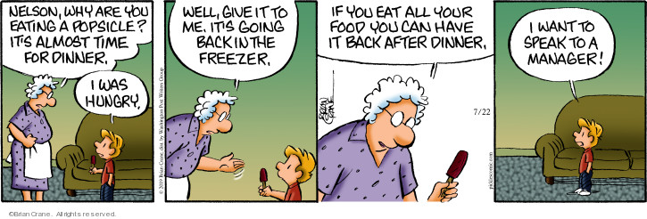 Comic Strip Brian Crane  Pickles 2019-07-22 meal