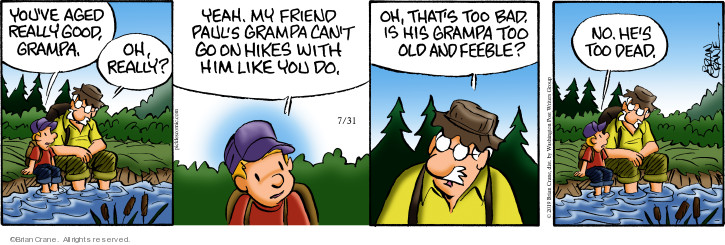 Comic Strip Brian Crane  Pickles 2019-07-31 grandpa