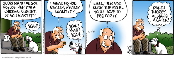 Comic Strip Brian Crane  Pickles 2019-08-06 dog trick