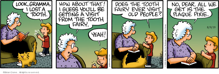 Comic Strip Brian Crane  Pickles 2019-08-09 elderly