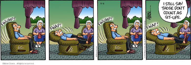 Comic Strip Brian Crane  Pickles 2019-09-04 recliner
