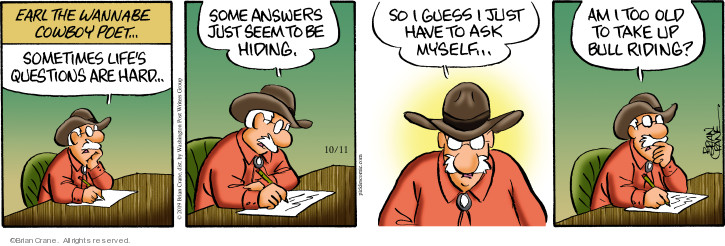 Cartoonist Brian Crane  Pickles 2019-10-11 cowboy