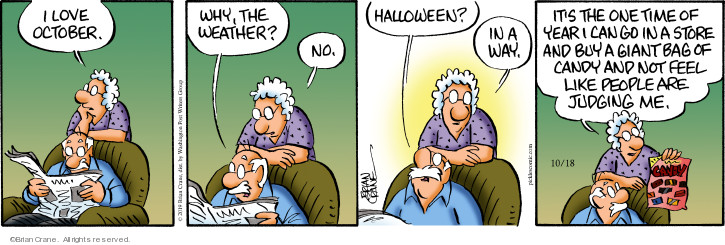 Comic Strip Brian Crane  Pickles 2019-10-18 Halloween