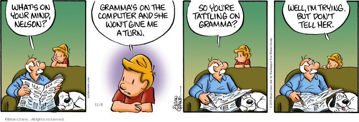 Cartoonist Brian Crane  Pickles 2019-11-05 turn