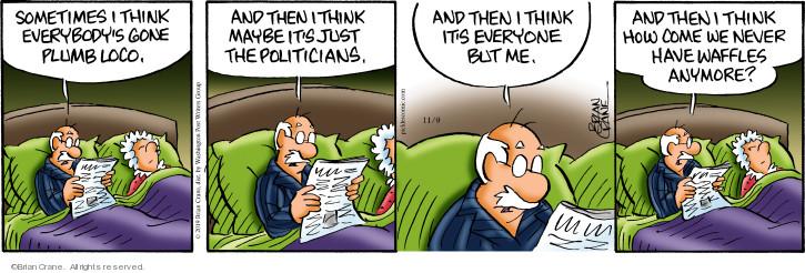 Comic Strip Brian Crane  Pickles 2019-11-09 sometimes