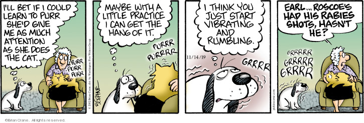 Comic Strip Brian Crane  Pickles 2019-11-14 attention