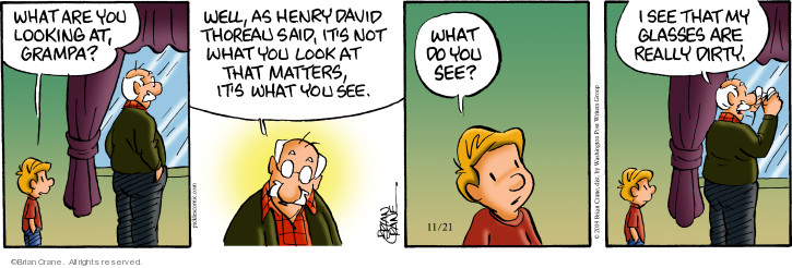 Comic Strip Brian Crane  Pickles 2019-11-21 Henry David Thoreau