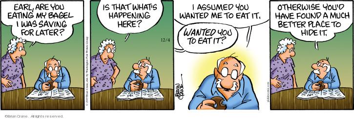 Comic Strip Brian Crane  Pickles 2019-12-04 food