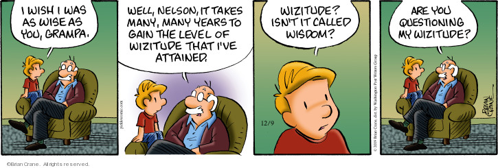 Comic Strip Brian Crane  Pickles 2019-12-09 wise