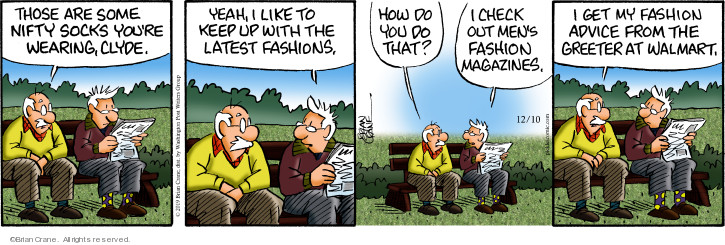 Comic Strip Brian Crane  Pickles 2019-12-10 fashion