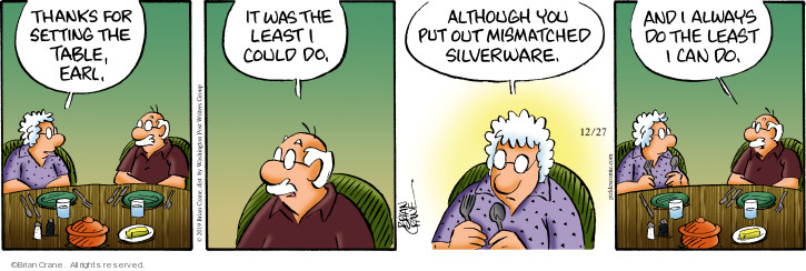 Comic Strip Brian Crane  Pickles 2019-12-27 laziness