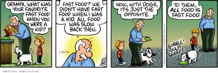 Comic Strip Brian Crane  Pickles 2020-01-25 favorite food
