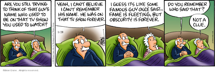 Comic Strip Brian Crane  Pickles 2020-01-28 quote
