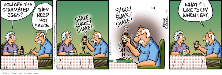 Comic Strip Brian Crane  Pickles 2020-01-31 eat