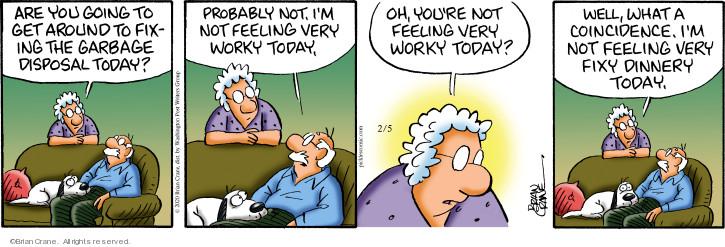 Cartoonist Brian Crane  Pickles 2020-02-05 get well