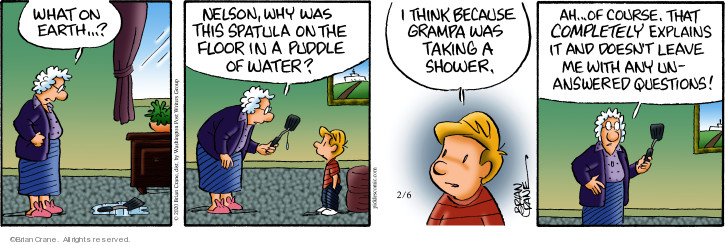 Comic Strip Brian Crane  Pickles 2020-02-06 water