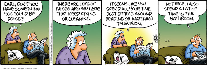 Comic Strip Brian Crane  Pickles 2020-02-17 television