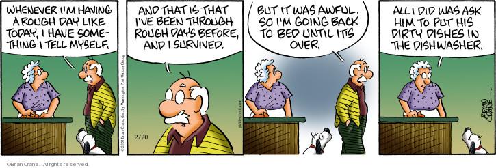 Comic Strip Brian Crane  Pickles 2020-02-20 day