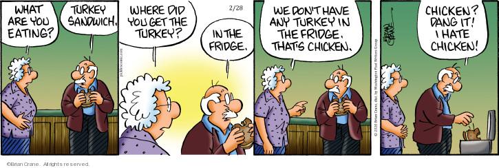 Comic Strip Brian Crane  Pickles 2020-02-28 meat