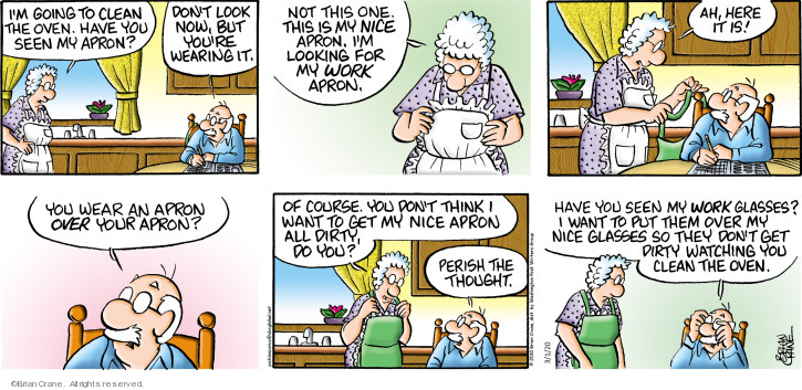 Comic Strip Brian Crane  Pickles 2020-03-01 eyeglasses