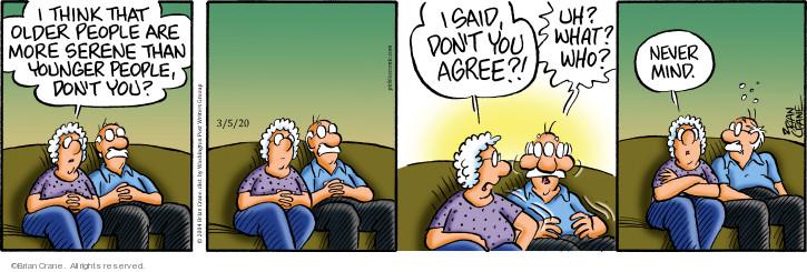Comic Strip Brian Crane  Pickles 2020-03-05 don't