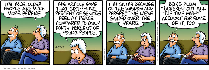 Comic Strip Brian Crane  Pickles 2020-03-09 elderly