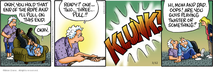 Comic Strip Brian Crane  Pickles 2020-03-12 ready