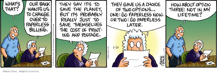 Comic Strip Brian Crane  Pickles 2020-03-20 change