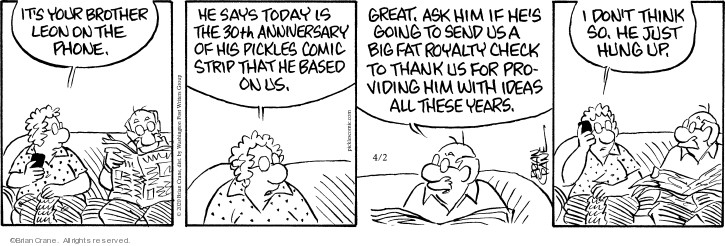 Comic Strip Brian Crane  Pickles 2020-04-02 big
