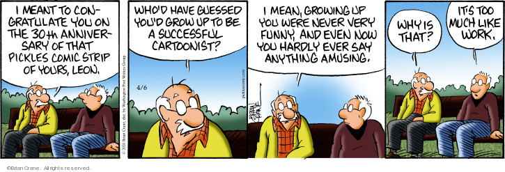 Comic Strip Brian Crane  Pickles 2020-04-06 work