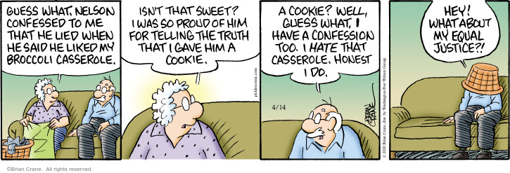Cartoonist Brian Crane  Pickles 2020-04-14 cookie