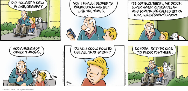Comic Strip Brian Crane  Pickles 2020-04-26 cell phone