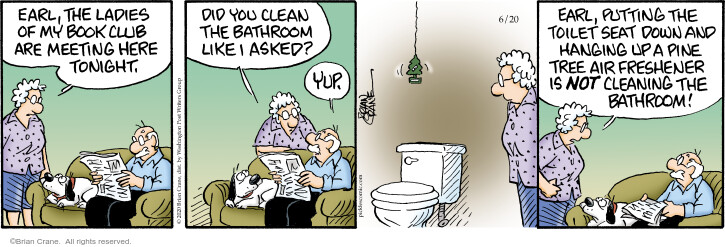 Comic Strip Brian Crane  Pickles 2020-06-20 housecleaning
