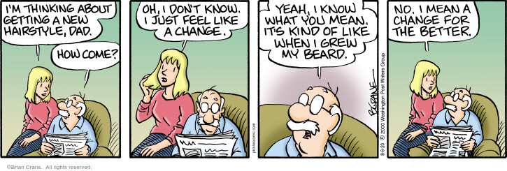 Comic Strip Brian Crane  Pickles 2020-08-06 hair