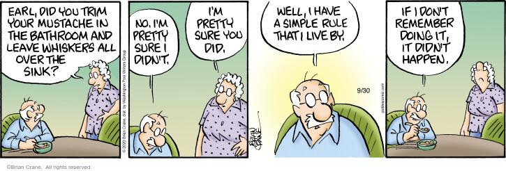 Comic Strip Brian Crane  Pickles 2020-09-30 well