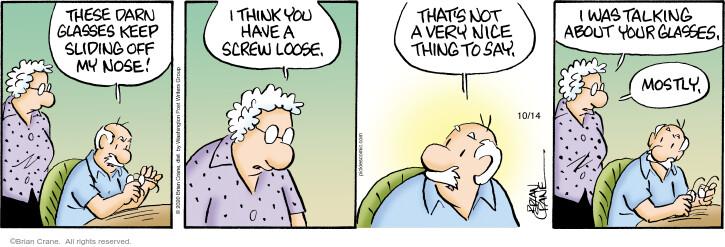 Comic Strip Brian Crane  Pickles 2020-10-14 eyeglasses
