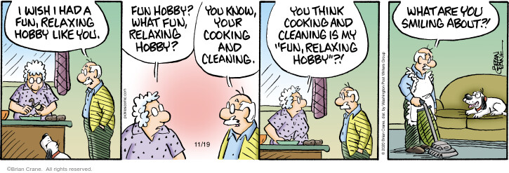 Comic Strip Brian Crane  Pickles 2020-11-19 housecleaning