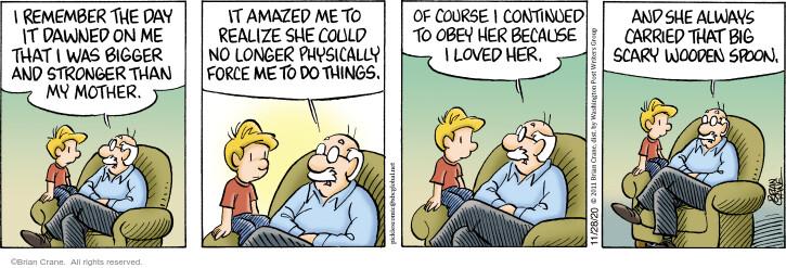 Comic Strip Brian Crane  Pickles 2020-11-28 mother