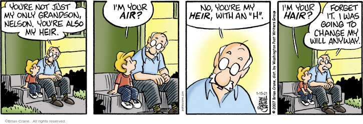 Comic Strip Brian Crane  Pickles 2021-01-15 your