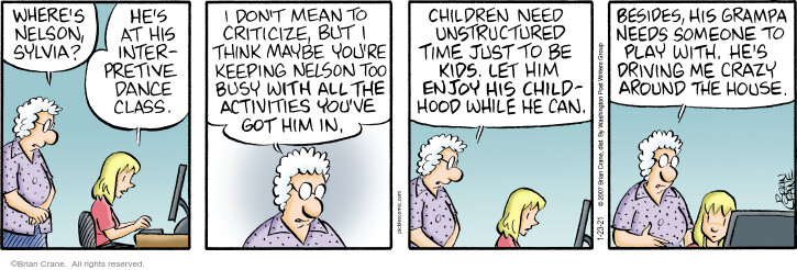 Comic Strip Brian Crane  Pickles 2021-01-23 grandfather